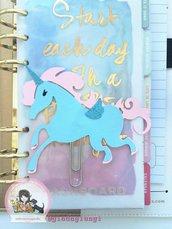 Paperpins lifeplanner-  Unicorno azzurro