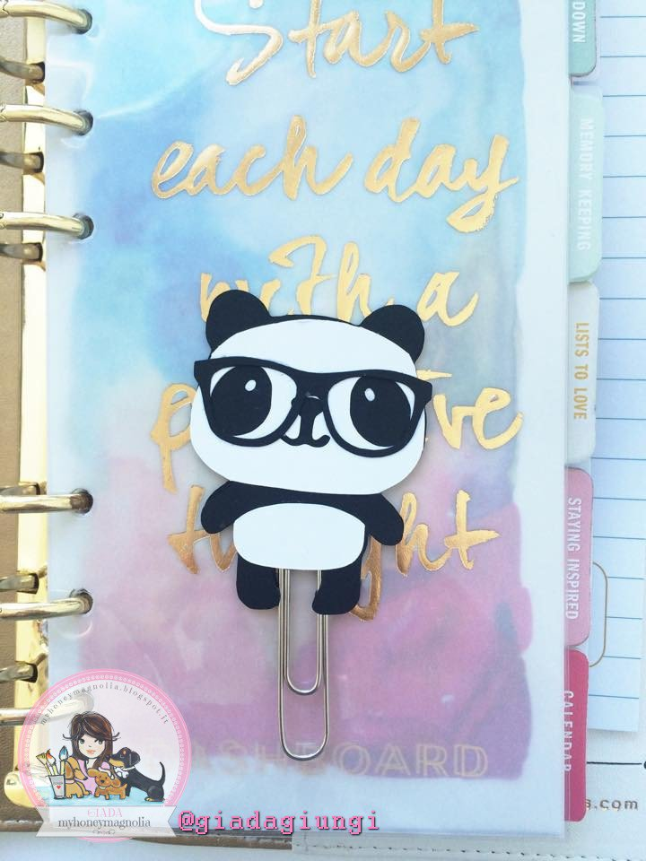 Paperpins lifeplanner-  Panda