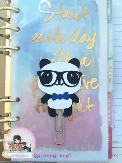 Paperpins lifeplanner-  Panda boy