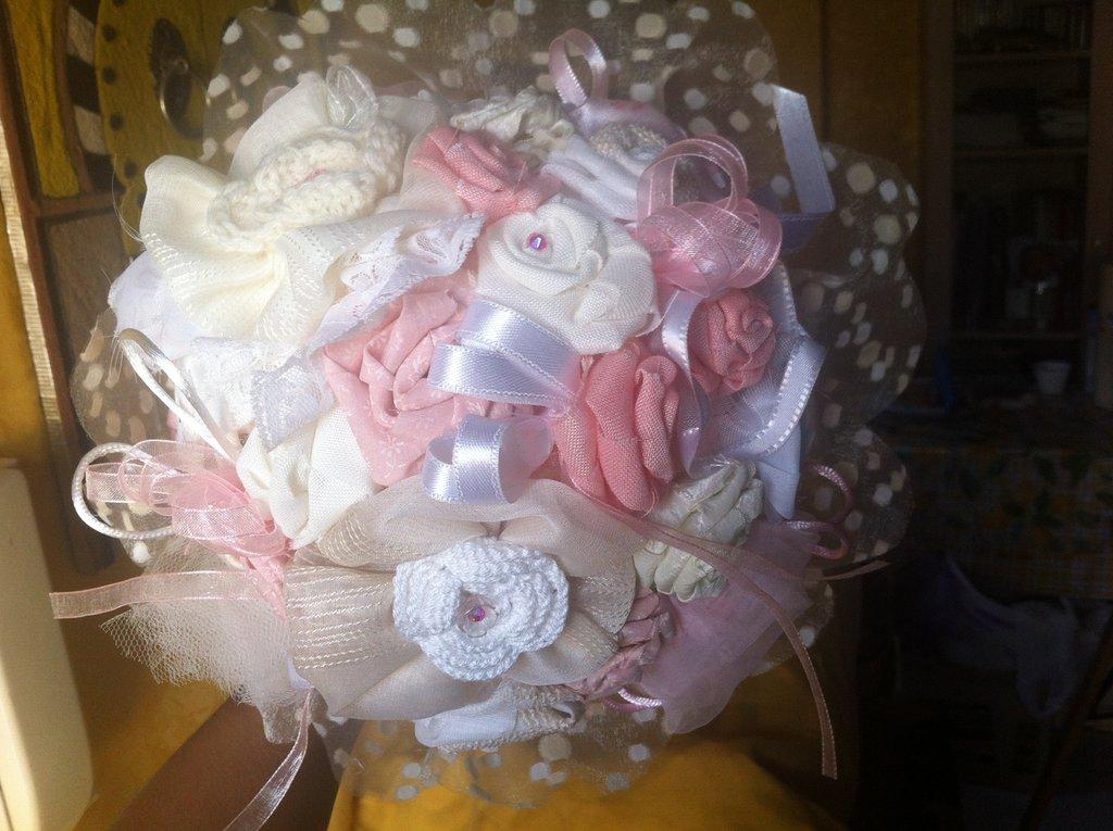 bouquet fiori di stoffa