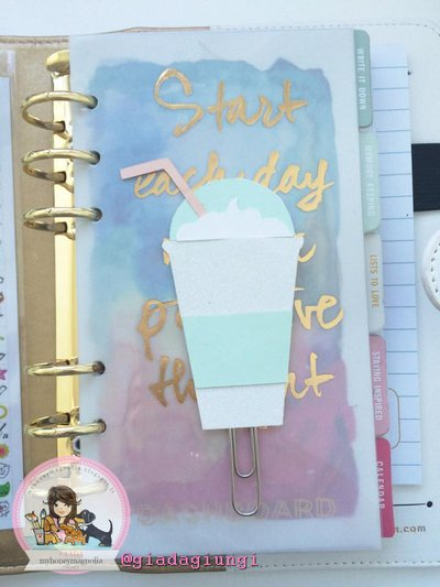 Paperpins lifeplanner-  Frappuccino