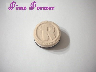 1 ciondolo fimo Ringo handmade