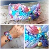 Bracciale bangle delle fate, fatto su ordinazione con i vostri colori preferiti