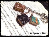 portachiavi libri per appassionati di lettura in miniatura