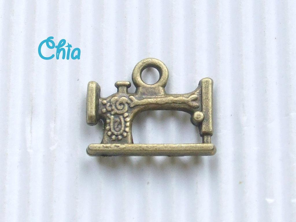 6 charms macchina da cucire bronzo materiali for Macchina da cucire salmoiraghi 133