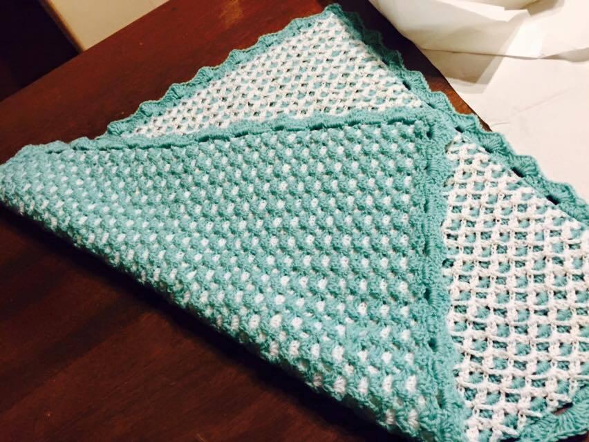 copertina neonato lana