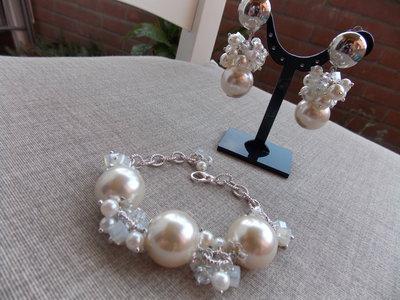 Bracciale con perle e mezzo cristallo