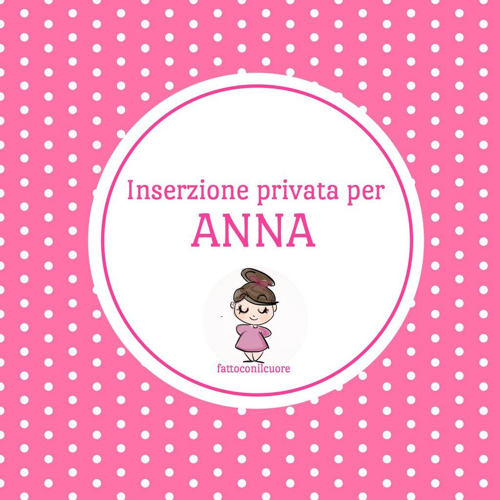 Inserzione PRIVATA per ANNA:cavallino fiocco nascita con cuore