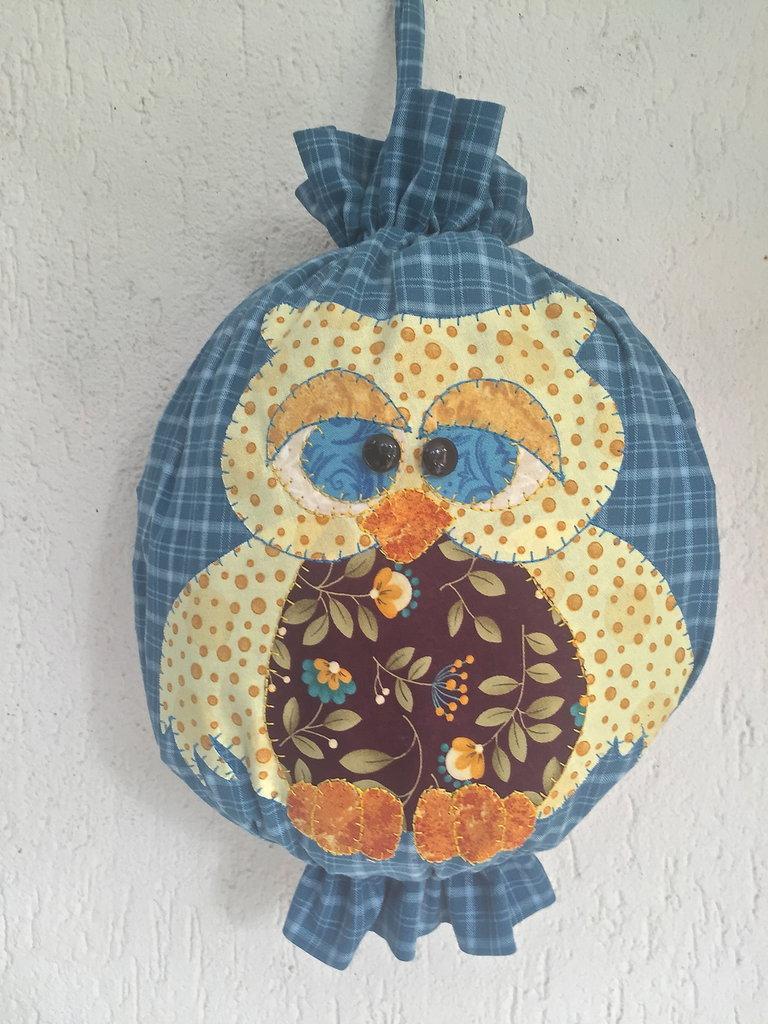 Porta sacchetti gufo per la casa e per te decorare casa di fa su misshobby - Porta sacchetti ...