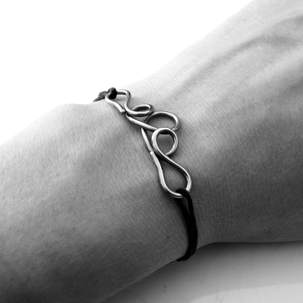 Braccialetto in acciaio, braccialetto dell'amicizia, bracciale amicizia - ABBRACCIAMI