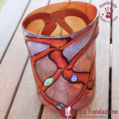 Goto Rouge in vetro di Murano fatto a mano