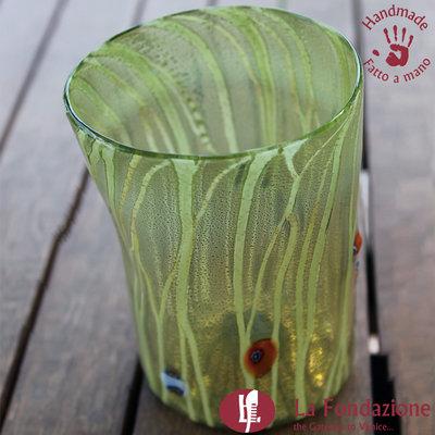 Goto Erba Verde in vetro di Murano fatto a mano