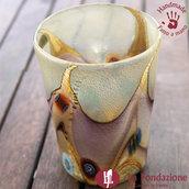 Goto Onda d'Autunno in vetro di Murano fatto a mano