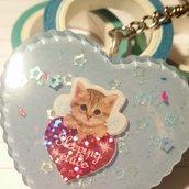 Portachiavi in resina, Cat Kawaii