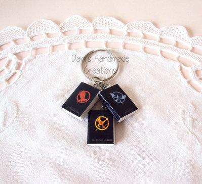 Portachiavi libri The Hunger Games trilogia