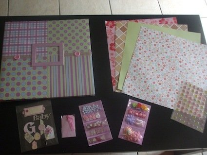 Album Kit scrapbooking - tema bimba