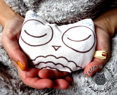 Scaldamani pupazzo Warmy scalda mani gufo gufetto owl idea regalo by Mosquitonero