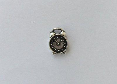 Charms,ciondolo sveglia color argento anticato1 pz