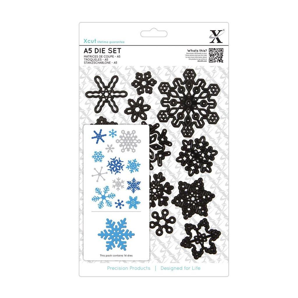 Set fustelle A5 Xcut - Snowflakes