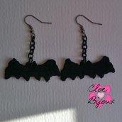 Orecchini Crochet Pipistrello