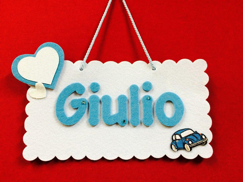 Targhetta nascita Giulio