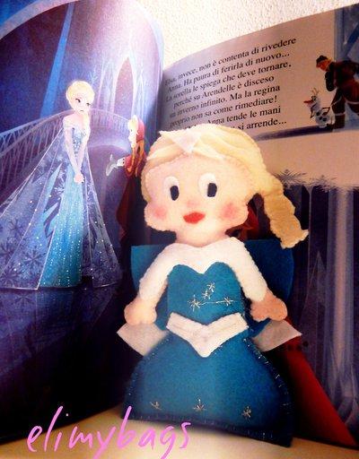 La Principessa Elsa di Frozen di feltro da appendere♥