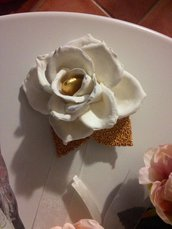Rosa porta confetti