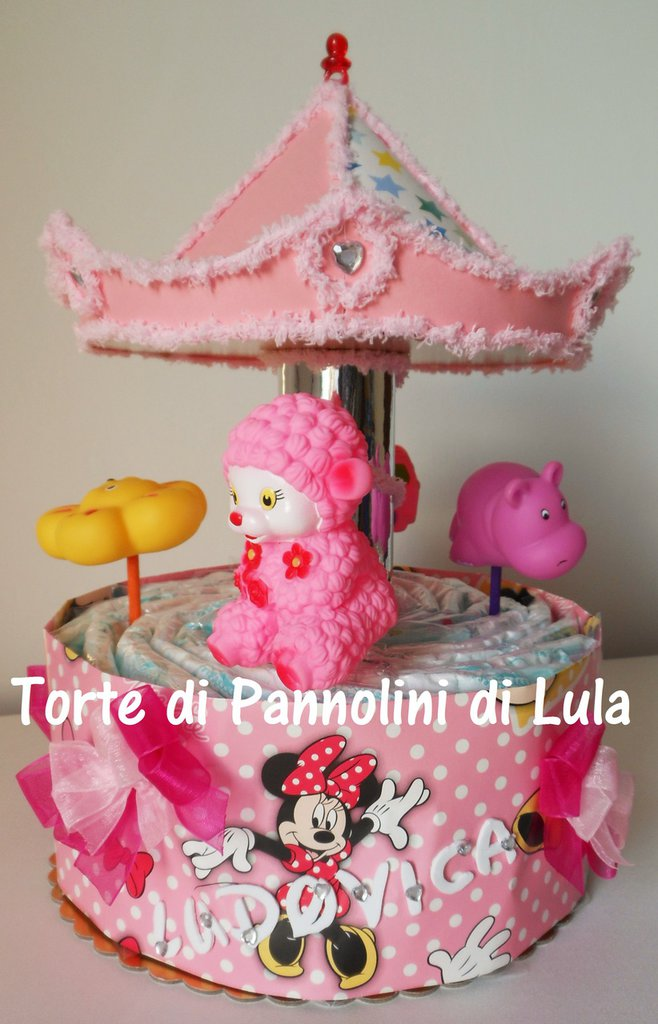 Torta di Pannolini Pampers Giostra- idea regalo, originale ed utile, per nascite, battesimi e com...