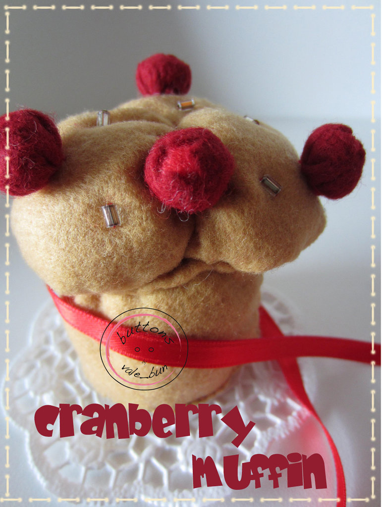 "CARTAMODELLO PER DOLCETTO IN FELTRO ""CRANBERRY MUFFIN"""
