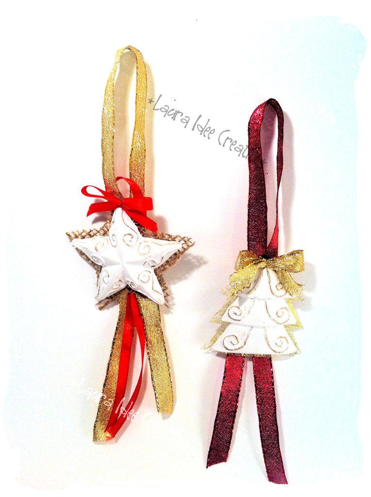 Decorazioni natalizie con gessetti profumati.