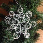 Decorazioni di Natale handmade fiocco di neve