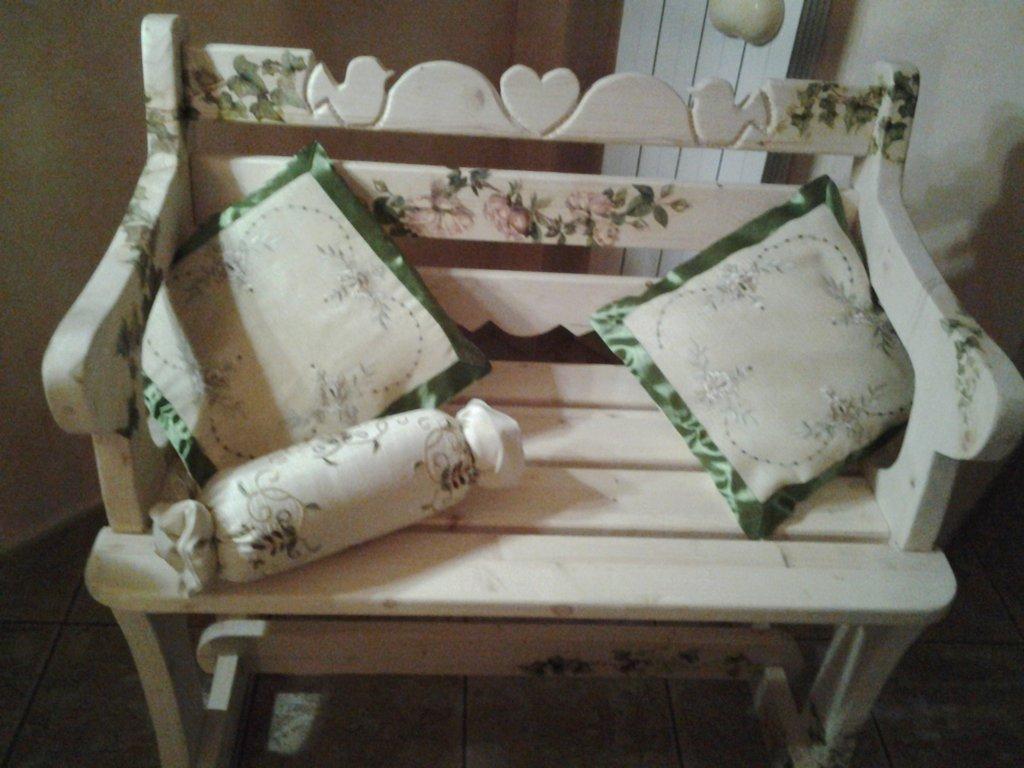 panca in legno shabby schic - Per la casa e per te - Arredamento ...
