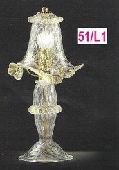 Lumetto in vetro di murano cristallo oro