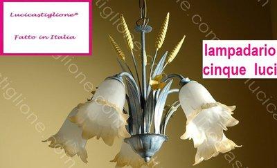 Lampadario cinque luci 3400/5