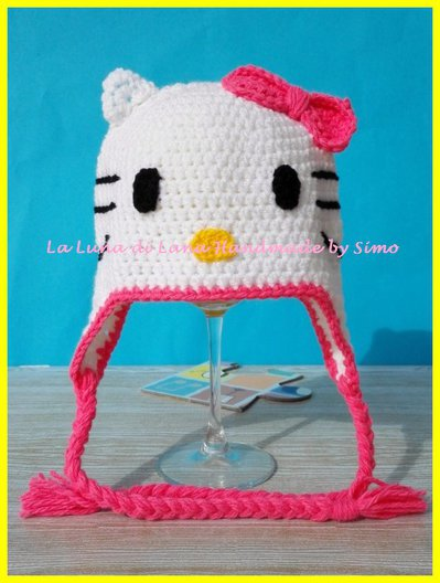 diversamente vendita uk outlet in vendita Cappello a uncinetto a forma di Hello Kitty per bambina