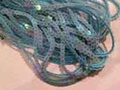 Paillettes colore azzurro diametro 6mm