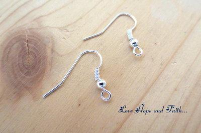LOTTO 20 paia di monachelle color argento chiaro (18x19mm) (cod.00553)