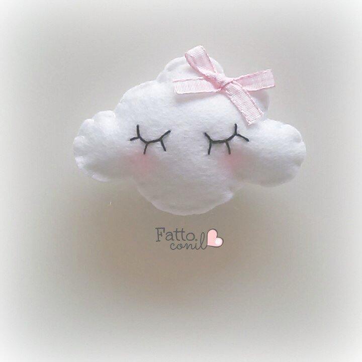 nuvoletta calamite con nastrino rosa : bomboniera romantica