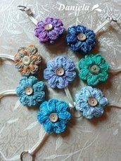 PORTACHIAVI fiorellino in tanti colori