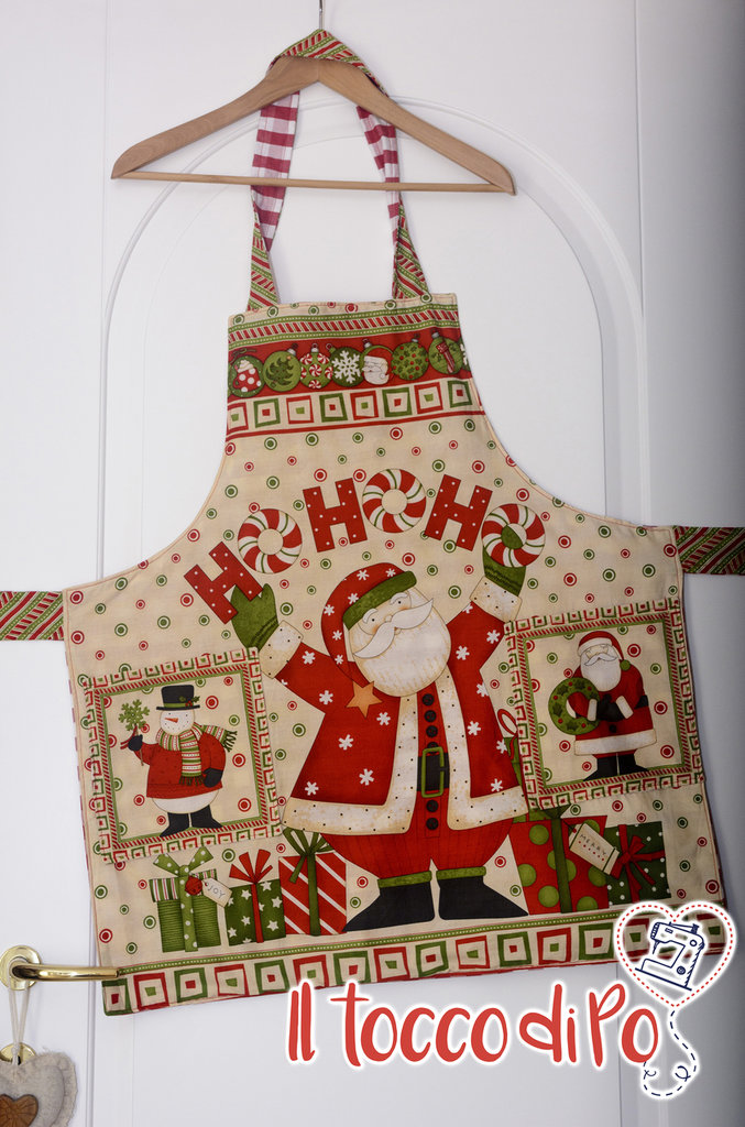 Grembiule da cucina natalizio - Natale 2015 - Babbo Natale