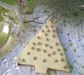 Biscotto albero di Natale in pasta di zucchero