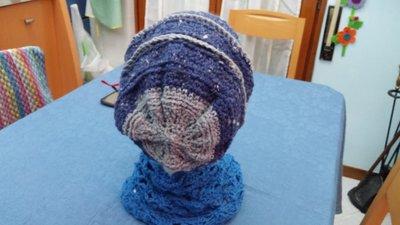 Cappello lungo blu