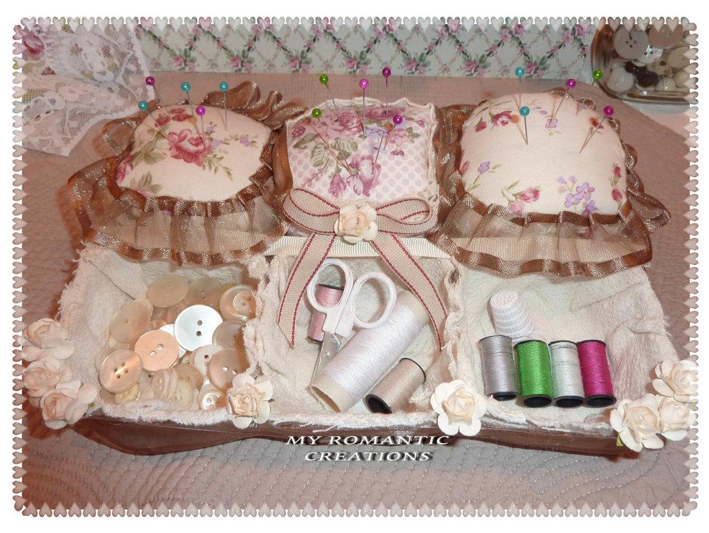 Romantico set da cucito shabby chic per la casa e per te decor su misshobby - Idee shabby chic per la casa ...