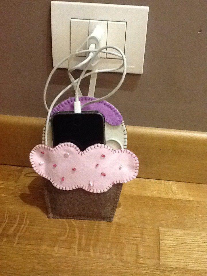 Porta cellulare cup cake