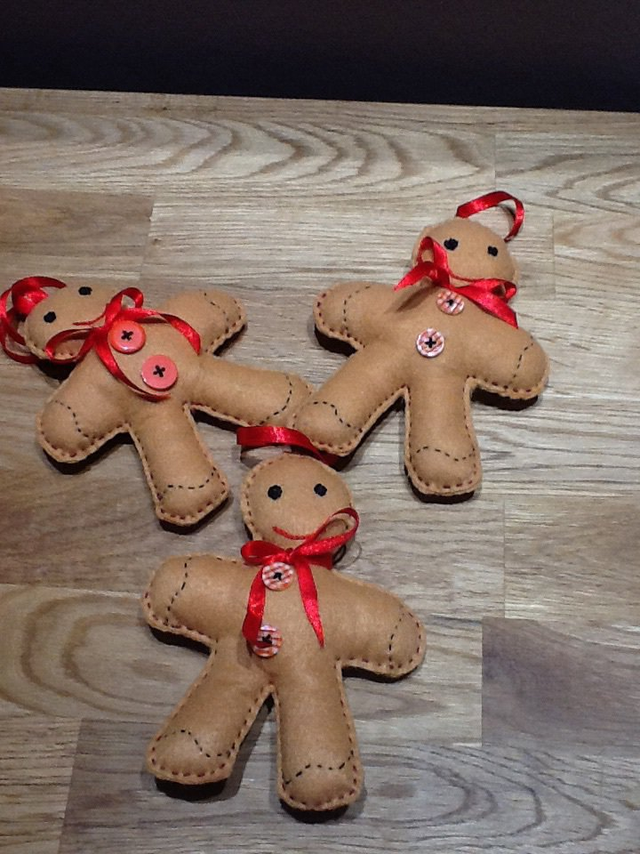 Set 3 pezzi Natale gingerbread