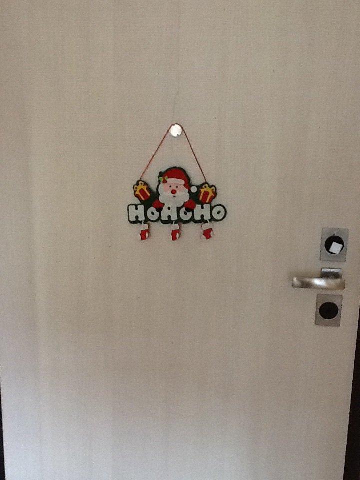 Addobbo porta babbo natalr