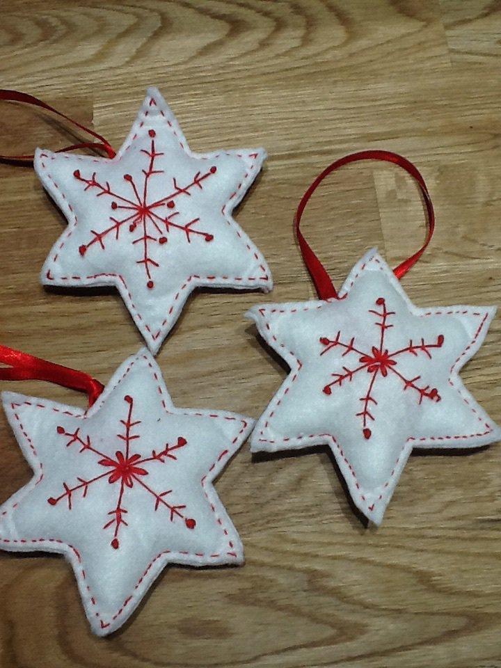 Set 3 pezzi Addobbo albero stella