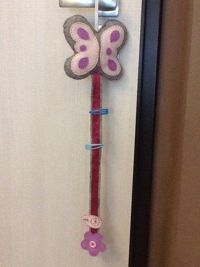 Porta clip per capelli farfalla