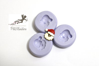 Stampo Silicone Flessibile Babbo Natale 10mm-Stampo Natale-Stampo Gioielli charm Kawaii ST241