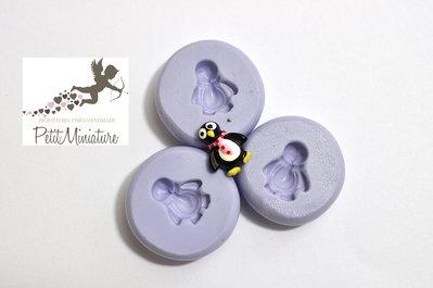 Stampo Silicone Flessibile Pinguino 10mm -Stampo Natale-Stampo Gioielli charm Kawaii ST242